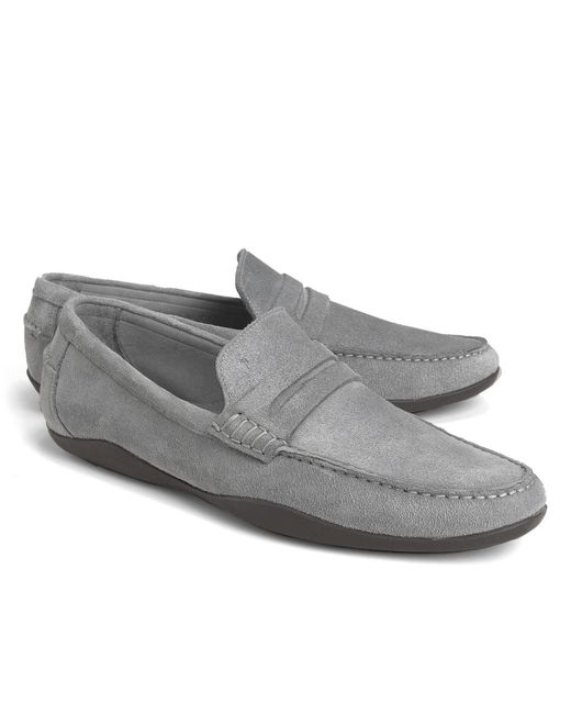 Brooks Brothers - Gray Harrys Of London® Basel Penny Loafers for Men - Lyst