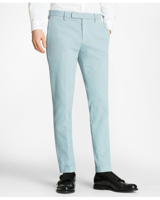 Brooks Brothers - Blue Garment-dyed Stretch Broken Twill Chinos for Men - Lyst
