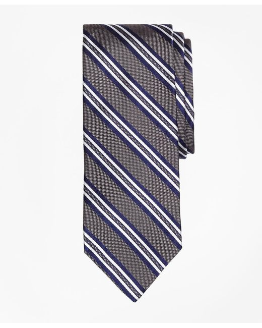 Brooks Brothers | Gray Natte Double Stripe Tie for Men | Lyst