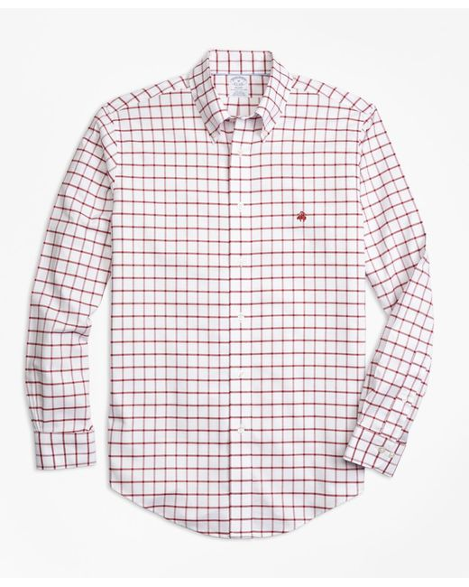 Brooks Brothers | Red Non-iron Regent Fit Windowpane Sport Shirt for Men | Lyst