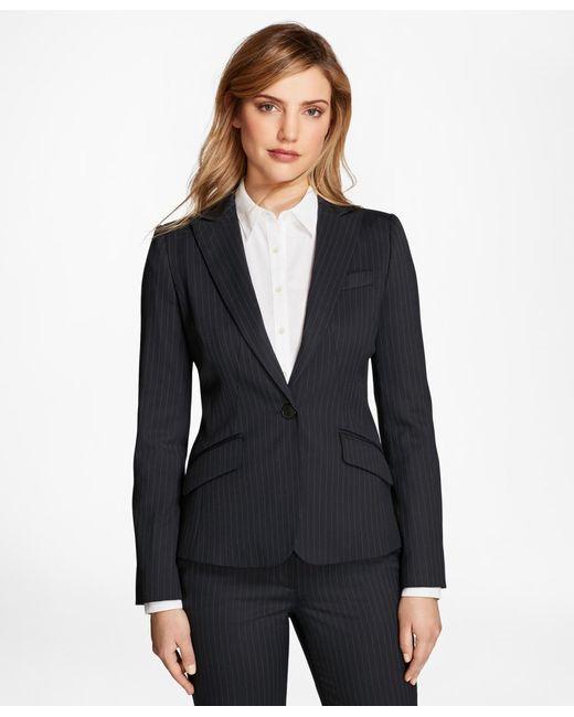 Brooks Brothers | Blue Pinstripe Stretch-wool Jacket | Lyst
