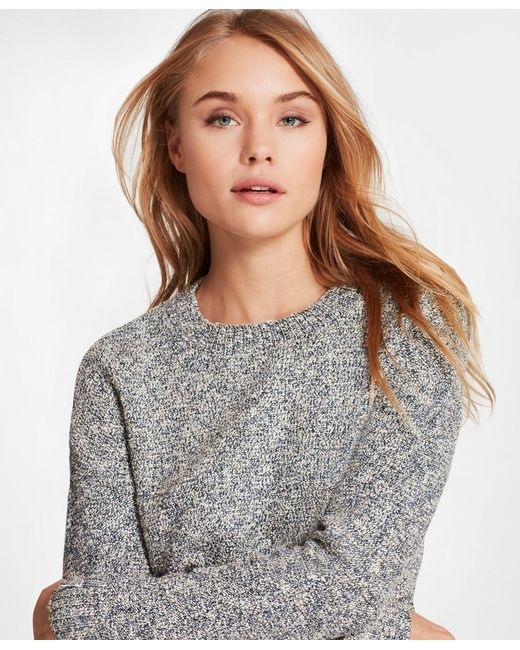 Brooks Brothers - Blue Shimmer Boucle Sweater - Lyst