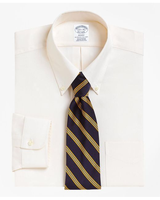 Brooks Brothers - Natural Regent Fit Button-down Collar Dress Shirt for Men - Lyst