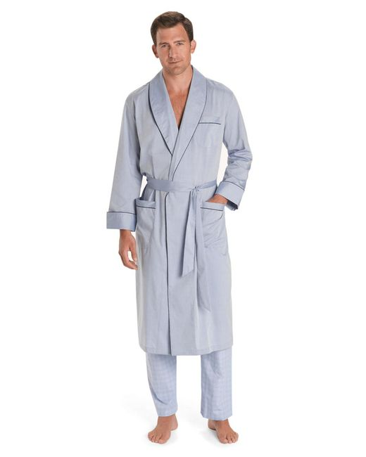 Brooks Brothers | Blue Wrinkle-resistant Chambray Robe for Men | Lyst