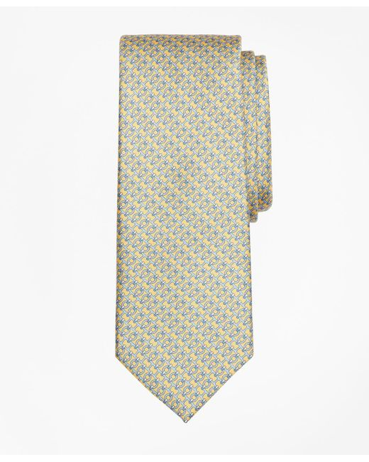 Brooks Brothers - Yellow Chain Link Print Tie for Men - Lyst