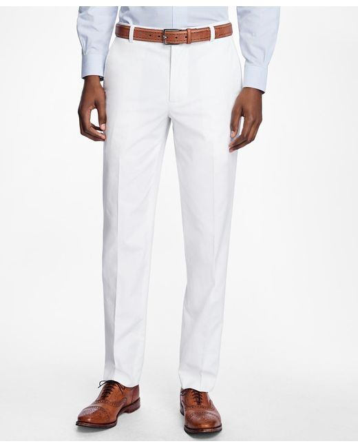 Brooks Brothers | White Milano Fit Supima® Cotton Poplin Pants for Men | Lyst