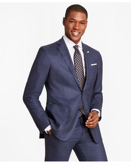 Brooks Brothers - Blue Regent Fit Brookscloudtm Check 1818 Suit for Men - Lyst