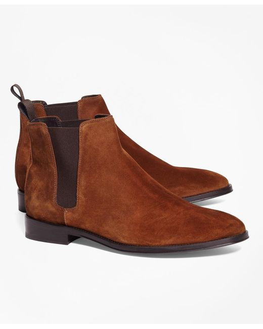 Brooks Brothers | Brown Suede Chelsea Boots for Men | Lyst