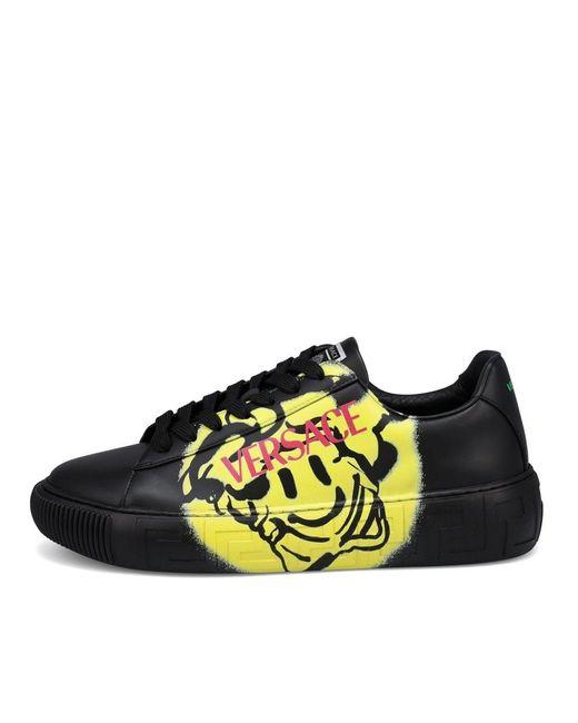 Versace Black Medusa Smile Sneakers for men