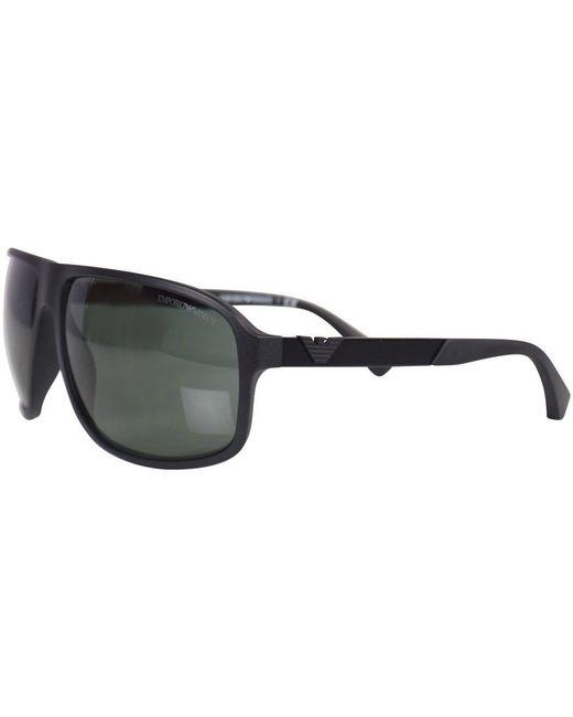 876fa77cc81b ... Emporio Armani - Matte Black 4029 Sunglasses for Men - Lyst ...