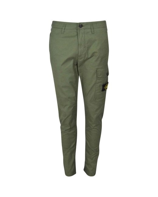 Stone Island Green Sage Cargo Pants for men