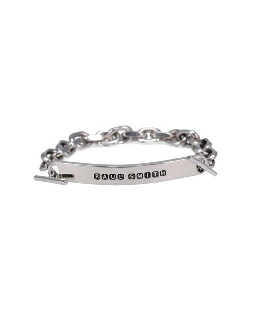 Paul Smith Metallic Tag Bracelet for men