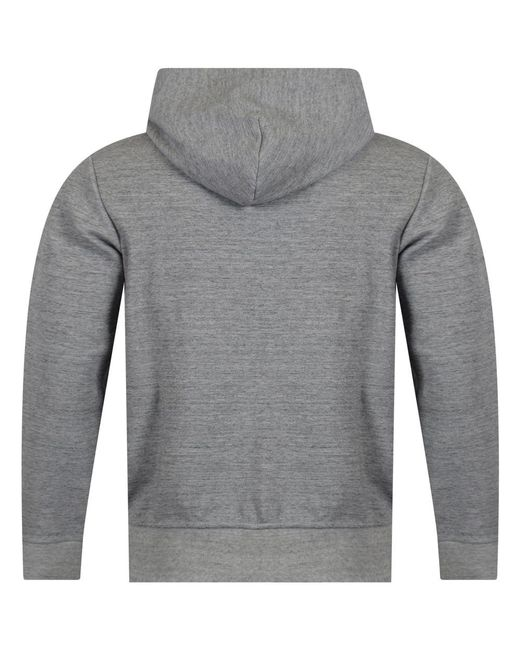 32491a47f Polo Ralph Lauren Embroidered Logo Hoodie in Gray for Men - Save 56 ...