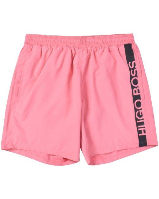 BOSS Light Pink Panel Swim Shorts for men