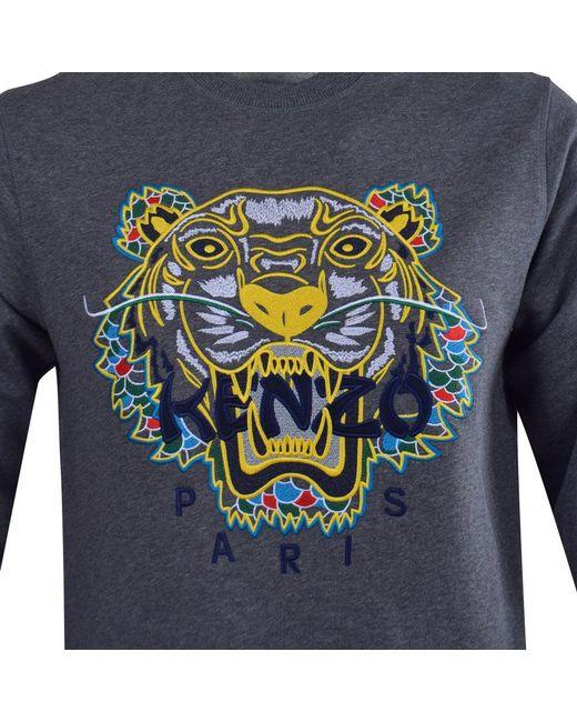 cbefeaa868f ... KENZO - Gray Dark Grey Dragon Tiger Sweatshirt for Men - Lyst