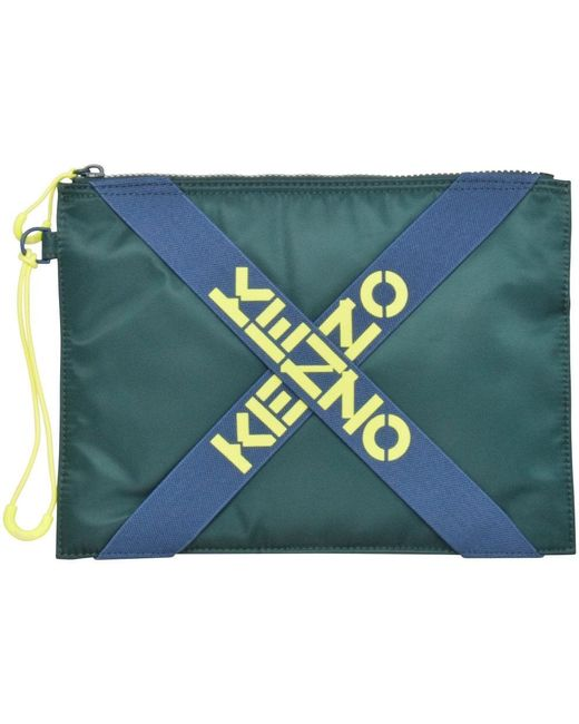 KENZO Gray Pale Grey Large Clutch Bag for men