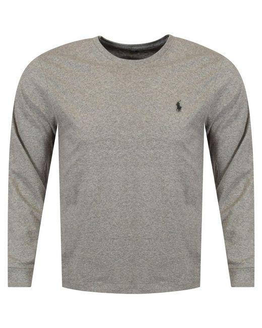 Polo Ralph Lauren - Gray Polo Grey Long Sleeve T-shirt for Men - Lyst
