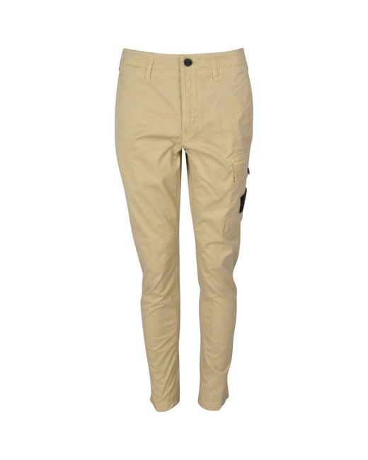 Stone Island Natural Beige Cargo Pants for men