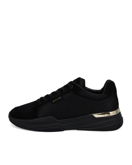 Mallet Black Midnight Gold Trainers for men