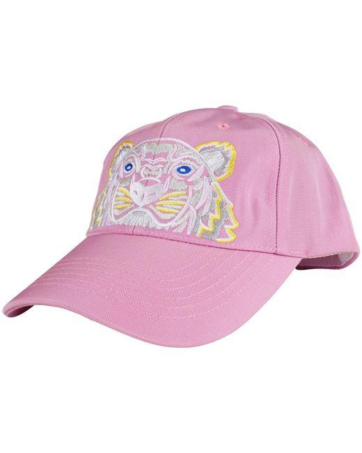 KENZO - Flamingo Pink Tiger Logo Baseball Cap for Men - Lyst