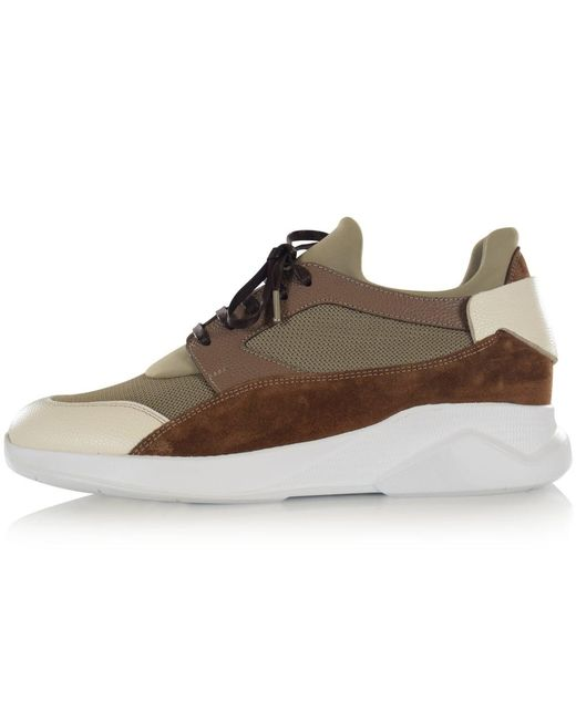 MALLET FOOTWEAR Natural Khaki Dalston Trainers for men