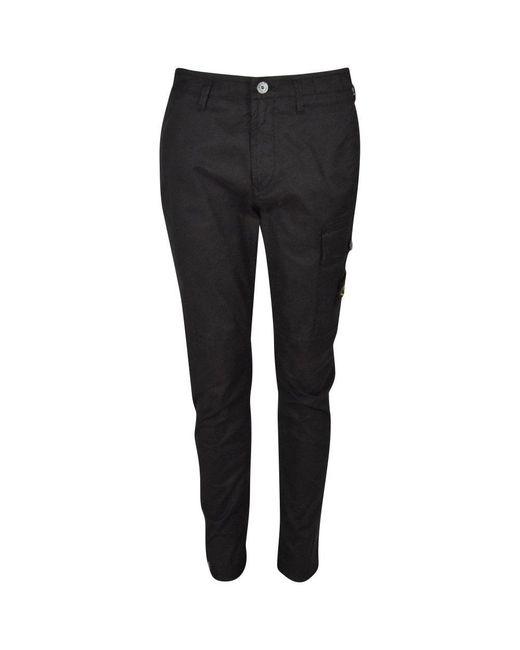Stone Island Black Cargo Pants for men