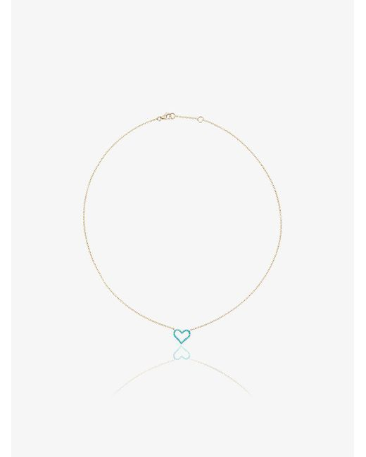 Rosa De La Cruz - Blue Chain Heart Pendant Necklace - Lyst
