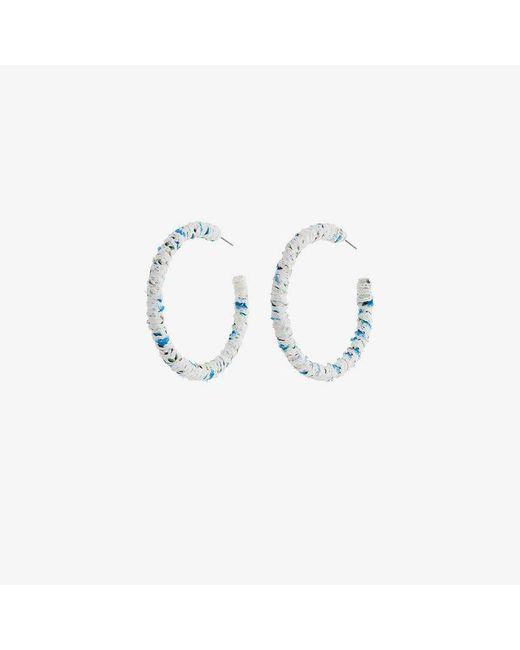 DANNIJO - Blue Nina Hoop Fabric Earrings - Lyst
