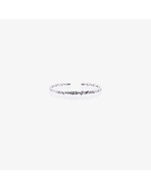 Suzanne Kalan - 18k White Gold And Diamond Fireworks Zigzag Baguette Bangle - Lyst