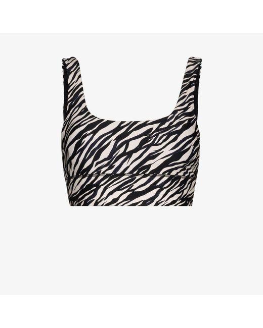 The Upside Black Zebra Nadiya Sports Bra