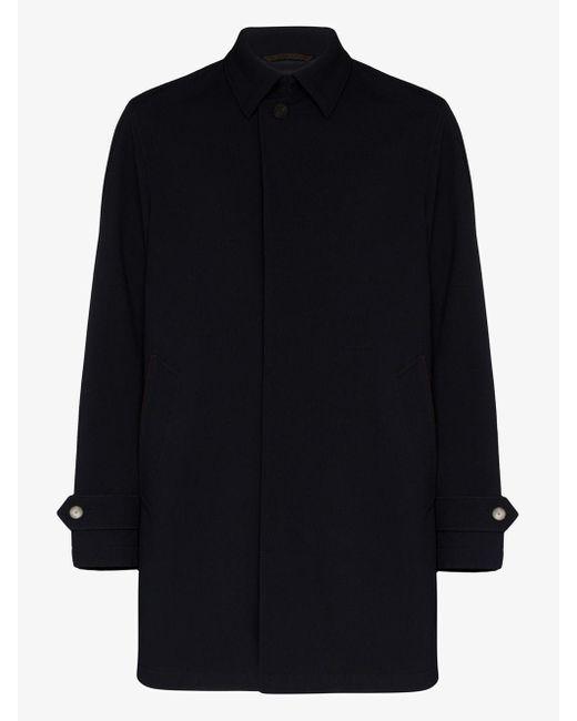 Ermenegildo Zegna Blue Wool Car Coat for men