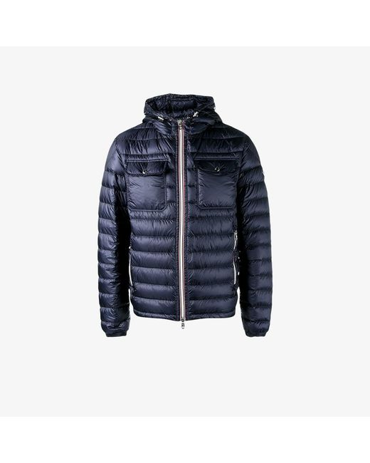 Moncler | Blue - Hooded Puffer Jacket - Men - Polyamide/goose Down - 2 for Men | Lyst