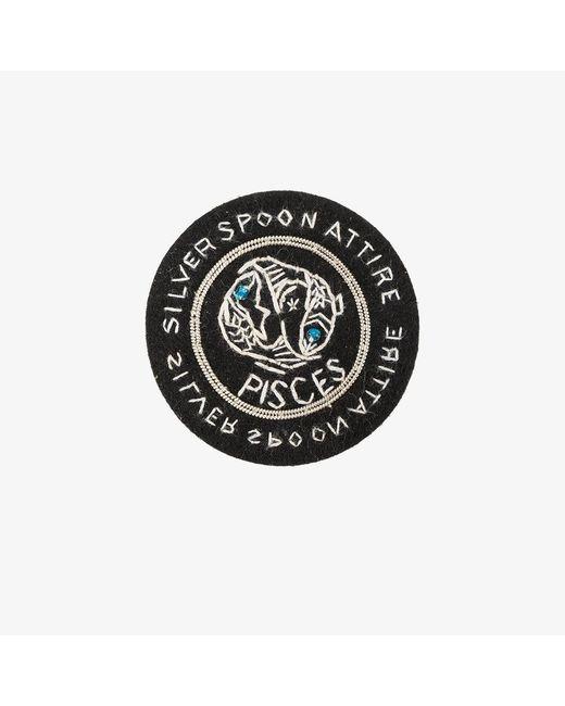 Silver Spoon Attire | Black Pisces Star Sign Badge | Lyst