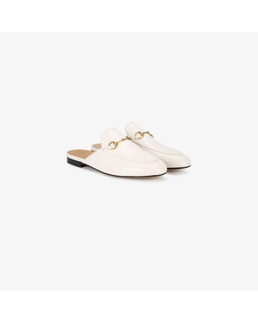 Gucci | White Princetown Horsebit Mules | Lyst