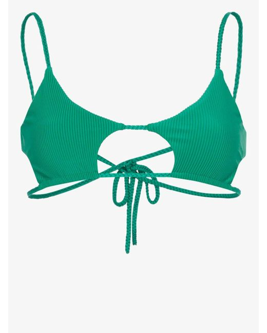Frankie's Bikinis Women's Green Willa Cutout Bikini Top