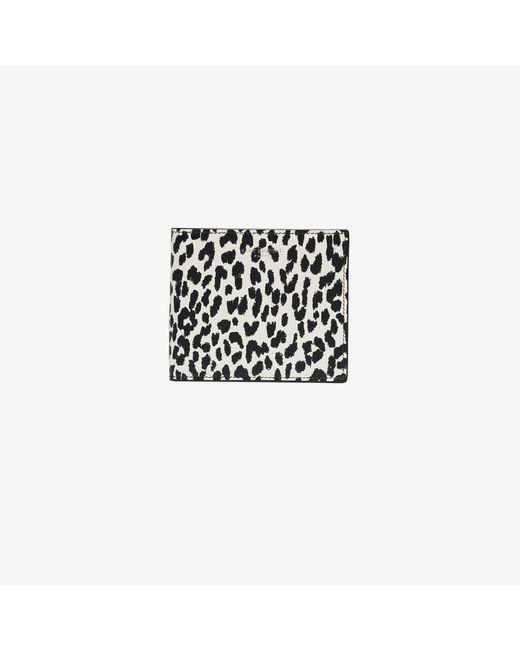 Saint Laurent Black Animal Print Leather Wallet for men