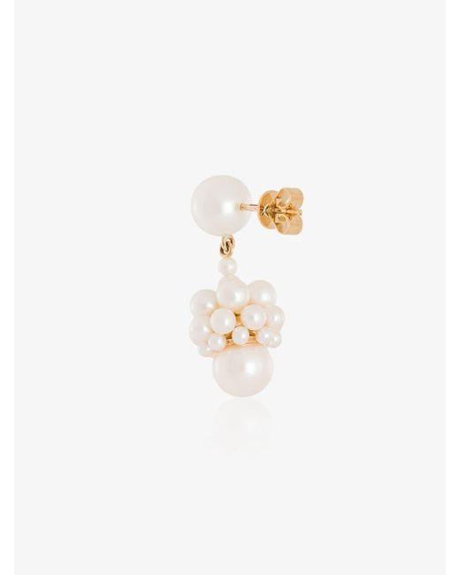 Sophie Bille Brahe Metallic 14kt Yellow Gold Poire Pearl Drop Earrings