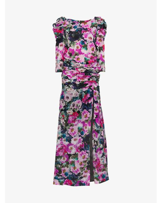 Ronald Van Der Kemp - Multicolor Floral Print Gown - Lyst