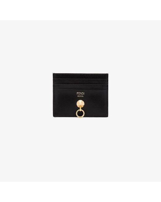 Fendi - Black Card Holder Card Holder - Lyst