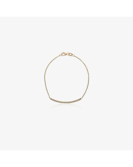 Lizzie Mandler - Metallic 18kt Yellow Gold Knife Edge Diamond Bar Bracelet - Lyst