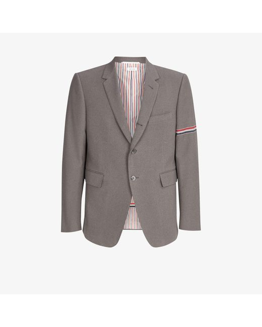 Thom Browne Gray Classic Single-breasted Wool Blazer for men