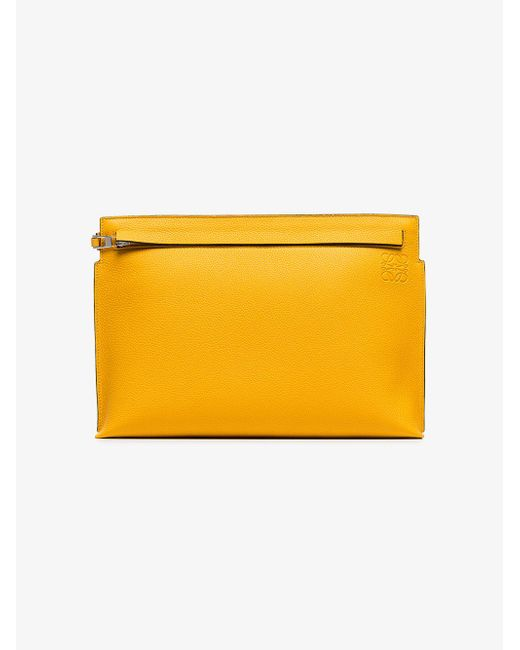 Outlet Low Cost Leather Statement Clutch - Rays shadow of yellow by VIDA VIDA Outlet Visa Payment Sale Outlet Store Shop For Sale Online Factory Sale XqC4O2Nk