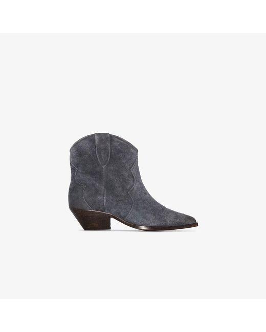 Isabel Marant Gray Grey Dewina 40 Ankle Boots