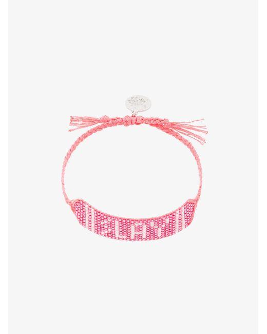 Venessa Arizaga - Pink Slay Beaded Bracelet - Lyst