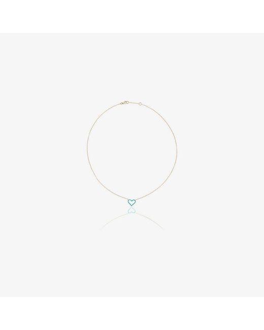 Rosa De La Cruz - Blue Chain Heart Pendant Necklace - Lyst