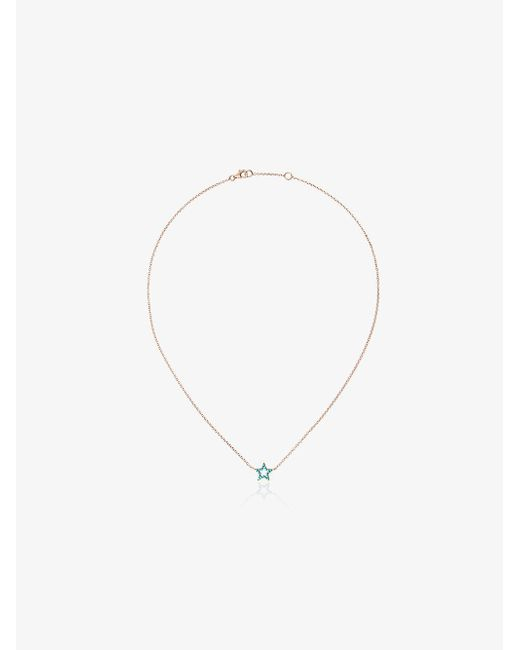 Rosa De La Cruz - Metallic Turquoise Star Charm Gold Necklace - Lyst