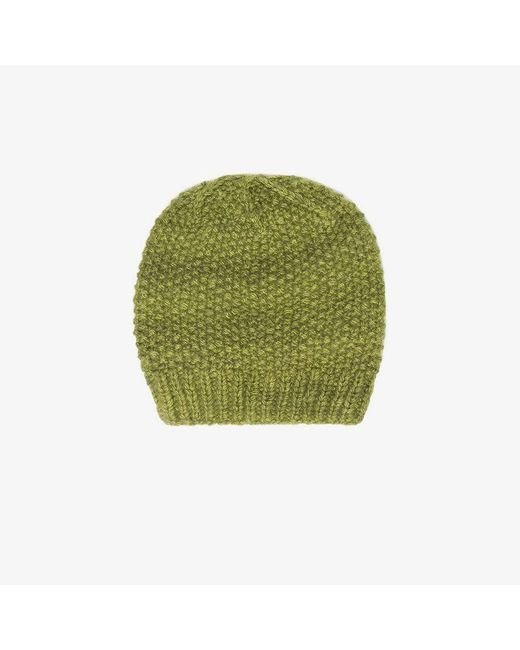 The Elder Statesman - Green Cashmere Beanie - Lyst