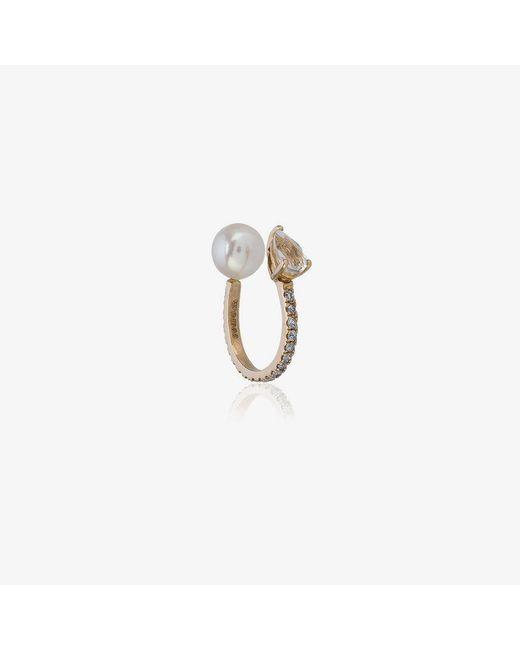 Anissa Kermiche - Metallic Perle Rare Pave Yellow Ear Cuff - Lyst