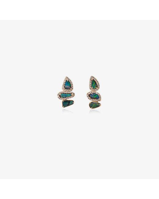 Kimberly Mcdonald - Metallic Blue And Gold Opal And Diamond Earrings - Lyst