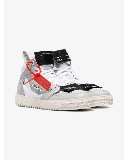 3b47182977005c Off-White c/o Virgil Abloh Grey And White Court Sneakers in Gray for ...